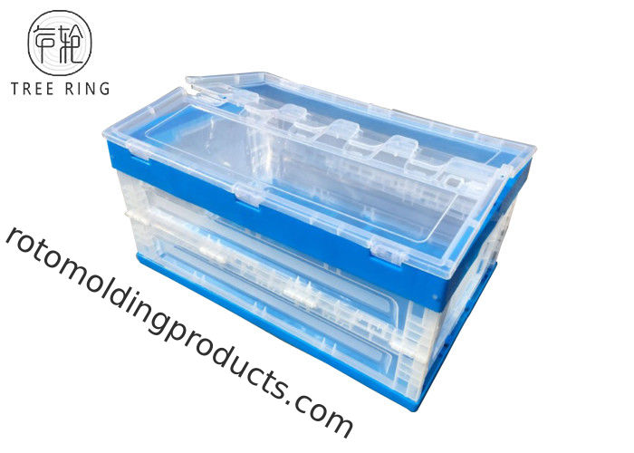 Strong Folding Plastic Stackable Vegetable Bins 600 - 240 Heavy Duty Industrial