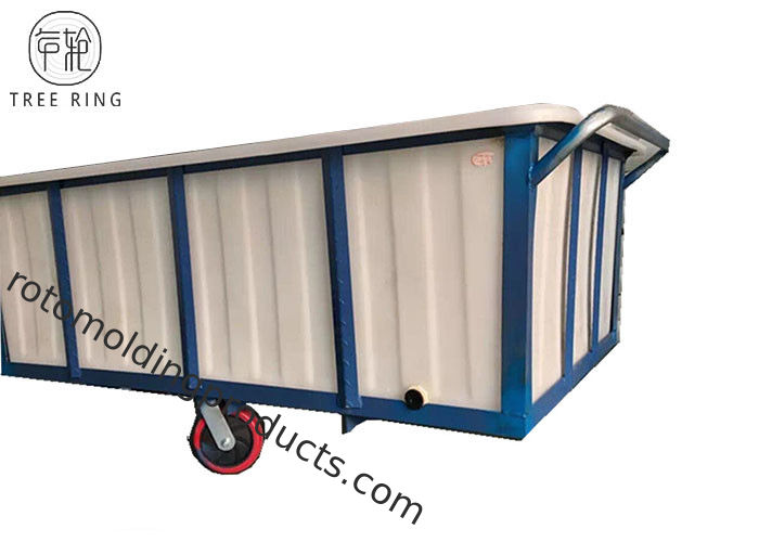 1100kg Commercial Poly Box Truck , Portable Plastic Box Truck Cart  With Wheels
