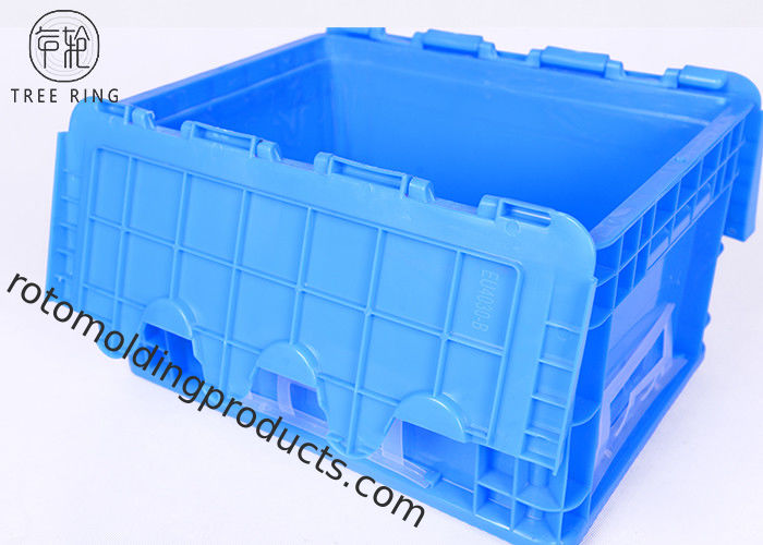 400 * 300 * 230 Euro Stacking Containers , Straight Wall Grey European Stacking Containers
