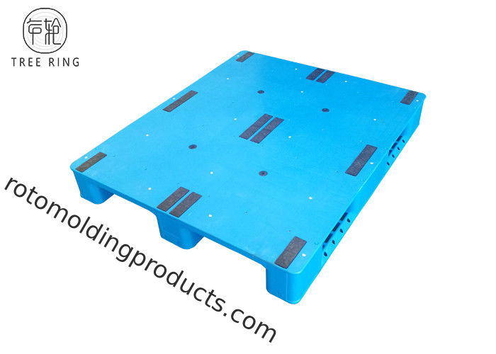 3 Runner Closed Stackable Industrial Plastic Pallets Perimeter 1200 * 1000 * 150mm