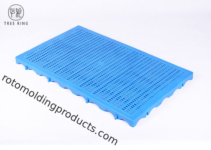 Mini Corrugated Floor Grille HDPE Plastic Pallets For Warehouse 1000 * 600 * 50 Mm