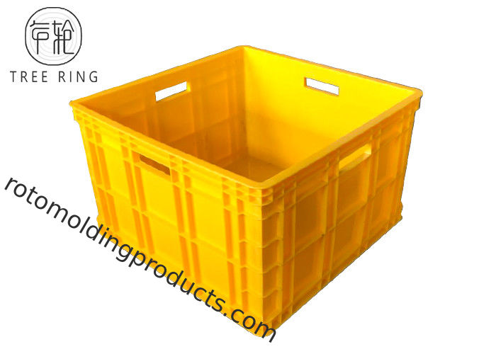 Solid Compact Cube Euro Stacking Containers 50ltr Polypropylene Material