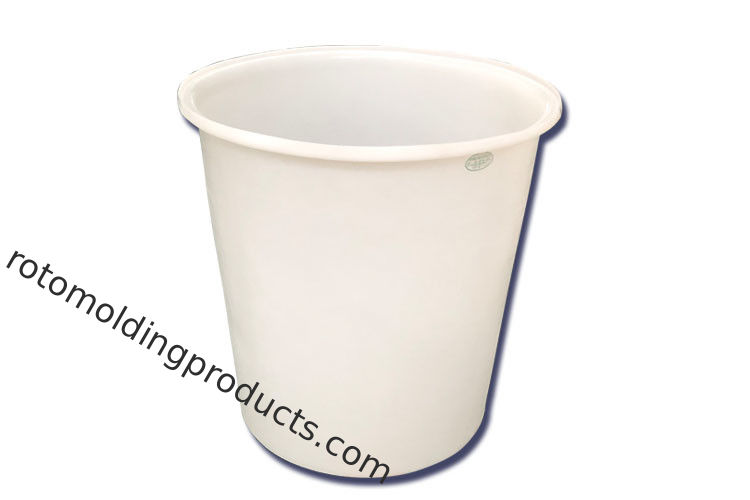Cylindrical Polyethylene Food Holding Open Top Plastic Tanks With Cover For Beer Storage And Mixing