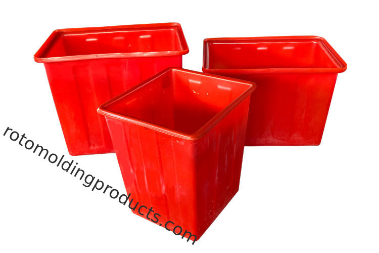 Solid Durable Paper Recycling Bin , Plastic Kitchen Waste Bins In Red Color